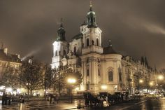 The Church of St. Nicholas in the Old Town Square of Prague, CZ