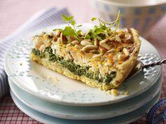 Italienische Lachs-Spinat-Quiche