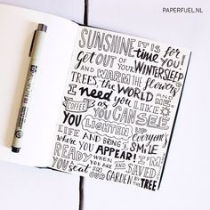 My ode to the sun #lettering #handlettering #paperfuel