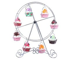 Cupcake Stand Ferris Wheel 8 Cups Party Wedding Dessert Holder Carnival Circus