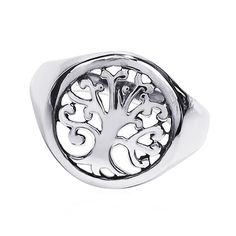 'Tree of Life' Sacred Symbol .925 Sterling Ring (Thailand) (Size ), Women's
