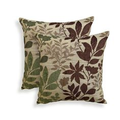 Essential Bristol Chenille Jacquard Leaf Throw Pillow