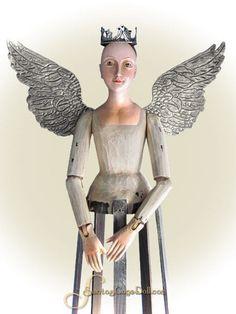 "SantosCageDoll.com — 27"" Santos Cage Doll, Cream & Taupe"