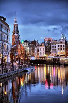 Canals of Amsterdam, The Netherlands.  Amsterdam looked, and felt, just like I had imagined. Lovely.  - L.