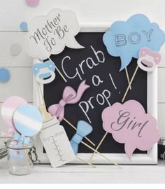10pc Baby Shower Photo Booth Prop AUS Owned Baby Shower Decorations