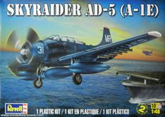 Revell 1/48 Skyraider AD-5 (A-1E)  Buyer beware! Rumor is that this is a rebox of an ancient Matchbox kit....