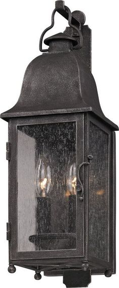 View the Troy Lighting B3211 Larchmont 2 Light Outdoor Wall Sconce with Seedy Glass at LightingDirect.com.