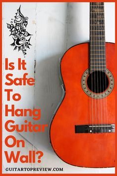 Here we want to address the most common question we get about hanging electric or acoustic guitars on the wall. Guitar Storage, Guitar Display, Music Lessons, Guitar Lessons, Hang Guitar On Wall, Home Studio Equipment, Hippie Crafts, Guitar Hanger, Home Studio Music