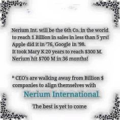 Nerium International is breaking records & the BEST is yet to come! NOW is the time to join me & my team on this amazing journey! www.lrobinson5.arealbreakthrough.com