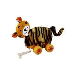 Leuke houten trekdier in de vorm van een Tijger.  Door met de tijger trekdier te spelen wordt de motorische ontwikkeling gestimuleerd.  De tijger trekdier is van het merk I'M Toy.