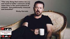 Ricky Gervais views on animal abuse #vegan