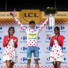 Overall best climber classification :  1. Rafal Majka (Tinkoff Team) 209pts 2. Thomas De Gendt (Lotto - Soudal) 130pts 3. Jarlinson Pantano (IAM Cycling) 121pts 4. Ilnur Zakarin (Team Katusha) 84pts 5. Rui Alberto Faria Da Costa (Lampre - Merida) 76pts #RafalMajka #Majka #TinkoffTeam #Tinkoff #TDF #TDF16 #TDF2016 #TourDeFrance #TourDeFrance2016 #LeTourDeFrance #LeTourDeFrance2016 #PolkaDotJersey #PolkaDot #MaillotAPois #BestClimber #MeilleurGrimpeur #velo #vélo #bike #bicycle #bicicletta…