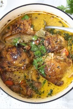 French Chicken Hate washing up? Which is why we love this one-pot dish.Hate washing up? Which is why we love this one-pot dish. French Chicken Recipes, Chicken Parmesan Recipes, Chicken Salad Recipes, Recipe Chicken, Chicken Meals, French Cooking Recipes, Chicken In Dutch Oven, French Chicken Dishes, Bone In Chicken Recipes