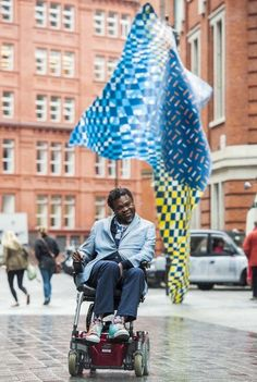 Artist Yinka Shonibare unveils his new site-specific wind sculpture in central London