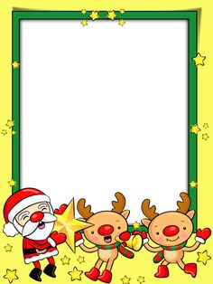 Christmas Arts And Crafts, Preschool Christmas, Kids Christmas, Christmas Decorations, Christmas Frames, Christmas Scenes, Christmas Photos, Borders For Paper, Borders And Frames