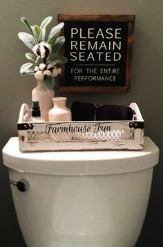 Please remain seated Bathroom Sign. Ha! For the kid's restroom. #rusticdesigninspiration