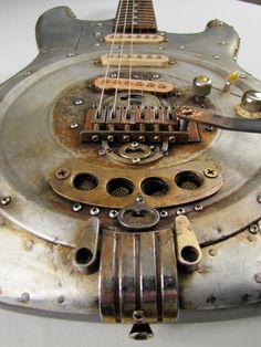 Steampunk Guitar by Tony Cochran