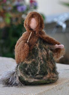 February ~ Mrs. Thaw ~ Wool Doll