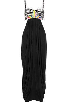Mara Hoffman Embroidered cotton-twill and jersey beach dress | NET-A-PORTER