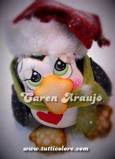 Caren Araujo - Arte em EVA: Pinguim Natalino