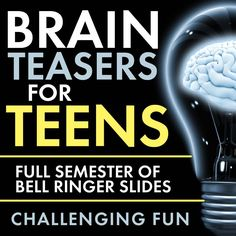 Time to add some challenging fun to your classroom routine with Brain Teasers for teens! First, give these head-scratchers a try: When you're ready, scroll down for the answers. Now, did you really… Pre class or middle of class brain teasers High School Classroom, Classroom Fun, Science Classroom, Teaching Science, Classroom Activities, High School Activities, School Icebreakers, Teen Activities, Efl Teaching