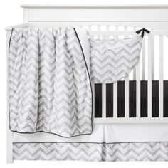 New @ Target - this with the blue accents??? Sweet Jojo Designs 11pc Zig Zag Crib Set - Gray