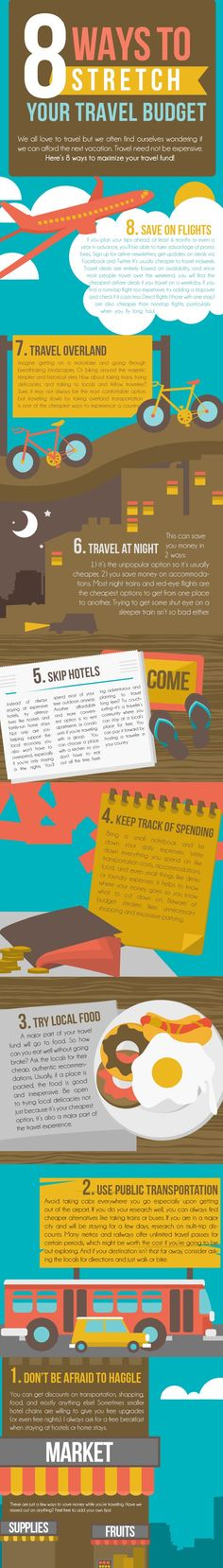 8 Ways To Stretch Your Travel Budget #infographic