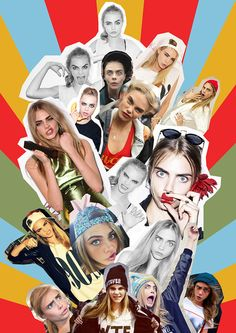 Cara Delevingne Fashion Editorial Collage Funny Face