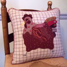 Image detail for -French Country Hen Wool Applique...