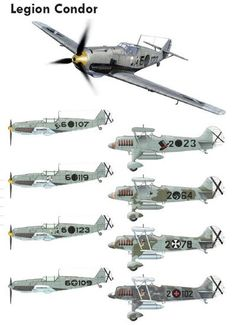 Aviones de la Legión Cóndor en España Military Jets, Military Aircraft, Fighter Aircraft, Fighter Jets, Aircraft Painting, Air Force, Ww2 Planes, Aircraft Design, Luftwaffe