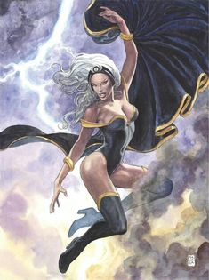 Marvel Comics (July Storm Variant Edition Cover art by Milo Manara Comic Book Characters, Marvel Characters, Comic Character, Comic Books Art, Female Characters, Marvel Women, Marvel Girls, Comics Girls, Marvel Heroes