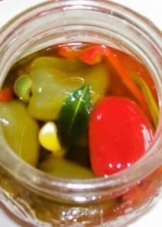 Mini poivron dans l'huile