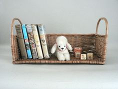 Rattan / Wicker Book Rack Basket