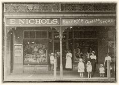 Nichols Bakery & General Store, Windsor Street, Richmond, NSW, probably 1916-1918