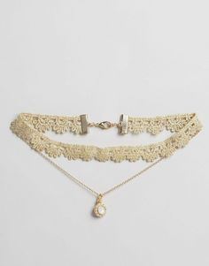 Lipsy Lipsy Ariana Grande Lace Multirow Choker Necklace at ASOS Diy Choker, Chocker Necklace, Chokers, Strand Necklace, Dainty Jewelry, Cute Jewelry, Vintage Jewelry, Handmade Jewelry, Jewelry Shop