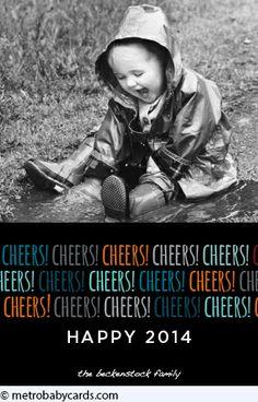 New Year Cheer Holiday Card Design