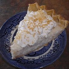 Sugar-Free Coconut Cream Pie Diabetic) Recipe - Food.com - 192514