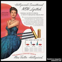 vintage beauty ads with celebrities | Famous Faces: Vintage Celebrity Beauty Ads | 1940s | Hollywood ...