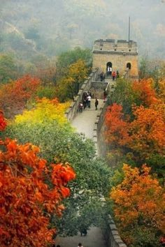 Grande muraille de Chine à l'automne 1950