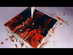 ASMR Acrilyc paint pouring (abstract painting) - Black and red Acrylic Pouring Art, Acrylic Resin, Acrylic Art, Youtube Paint, Acrylic Painting Techniques, Painting Tutorials, Acrilic Paintings, Fluid Acrylics, Pour Painting