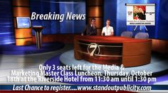 This was used to promote our Media and Marketing Master Class in October 2012