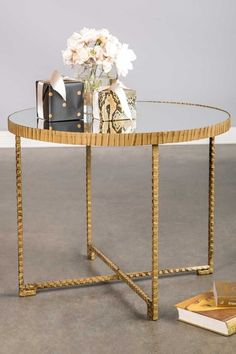 Selena Table with Mirrored Top by Statements by J on @HauteLook