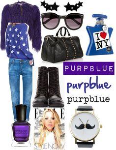 """purpblue by Gi"" by giulia-balbo on Polyvore"