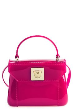 Love how vibrant this pink candy crossbody bag is!
