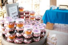 Wedding Photography | Country Wedding | Wedding Photo Ideas | Fresno Wedding Photographer | Photography by: Megan Stone Photography | Venue: The Branch & Vine - Madera, CA | Wedding Favor Ideas | Rustic Wedding Favor | Homemade Jam |