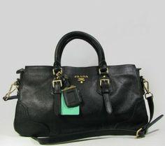 Prada Handbags,Prada Leather Handbag 9101-$
