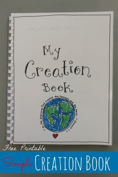 Creation Book � FREE Printable!                                                                                                                                                                                 More