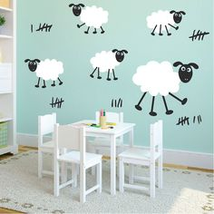 Happy Sheep Wall Decals | Trendy Wall Designs