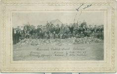 1908-Annual-Rabbit-Hunt-Photo-Postcard-Anson-Kansas-Conway-Springs-Kansas