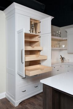 Organized Pantry Pull Out Drawers